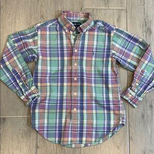 Ralph Lauren 8 Boys Long Sleeve Button Down Shirt